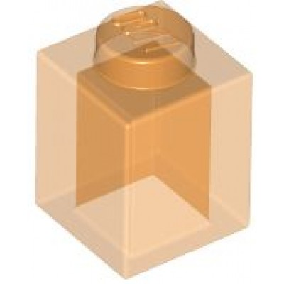 LEGO 1 x 1 Brick Transparent Orange