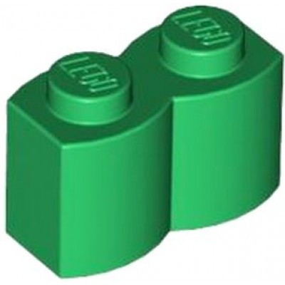 LEGO 1 x 2 Brick - Modified Log Green