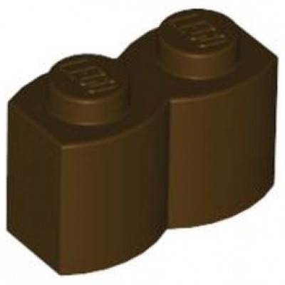 LEGO 1 x 2 Brick - Modified Log Dark Brown