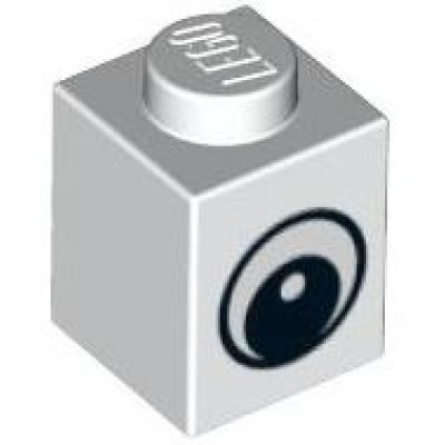 LEGO 1 x 1 Brick White Eye