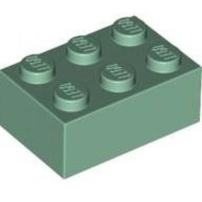 LEGO 2 x 3 Brick sand Green