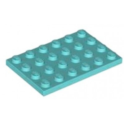 LEGO 4 x 6 Plate Medium Azure