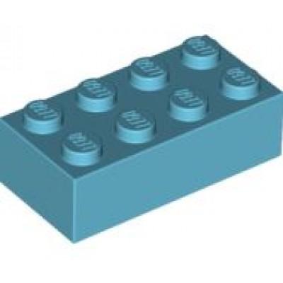 LEGO 2 x 4 Brick Medium Azure