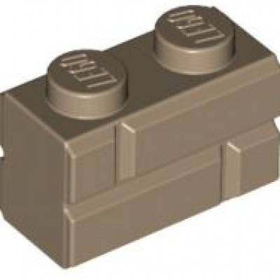LEGO 1 x 2 Brick Masonry Profile Dark Tan