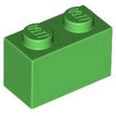 LEGO 1 x 2 Brick Bright Green