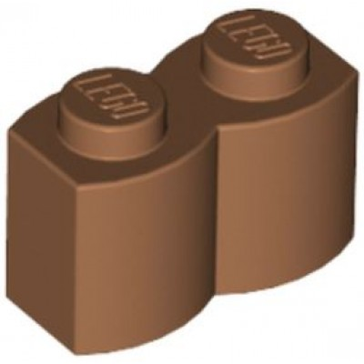 LEGO 1 x 2 Brick - Modified Log Medium Nougat