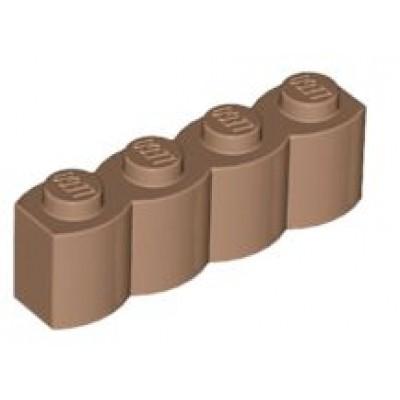 LEGO 1 x 4 Brick - Modified Log Medium Dark Flesh