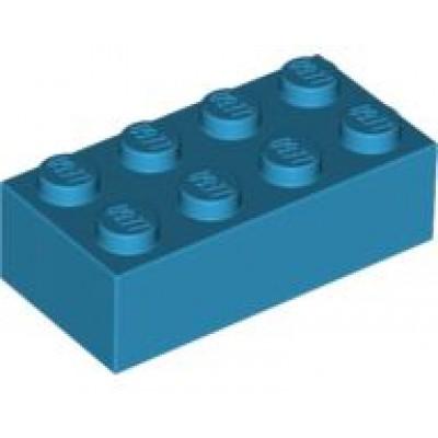 LEGO 2 x 4 Brick Dark Azure