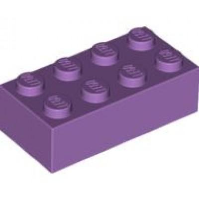 LEGO 2 x 4 Brick Medium Lavender