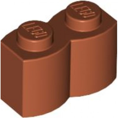 LEGO 1 x 2 Brick - Modified Log Dark Orange