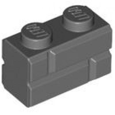 LEGO 1 x 2 Brick Masonry Profile Dark Bluish Grey