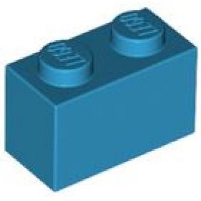LEGO 1 x 2 Brick Dark Azure