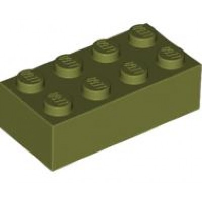 LEGO 2 x 4 Brick Olive Green