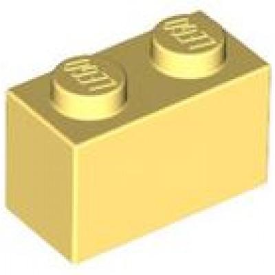 LEGO 1 x 2 Brick Bright Light Yellow