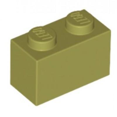 LEGO 1 x 2 Brick Oilve Green
