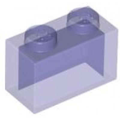 LEGO 1 x 2 Brick Transparent Purple