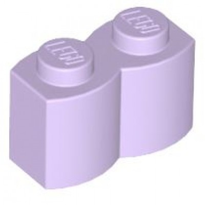 LEGO 1 x 2 Brick - Modified Log Lavender