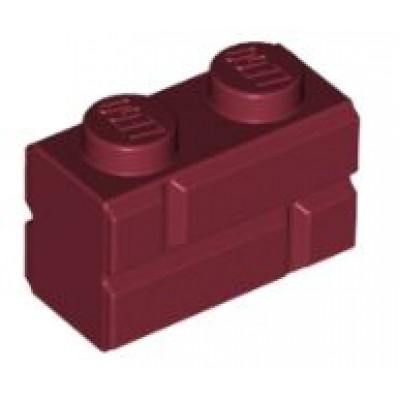 LEGO 1 x 2 Brick Masonry Profile Dark Red