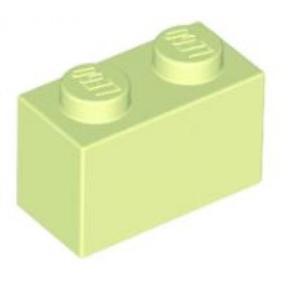 LEGO 1 x 2 Brick Yellowish Green
