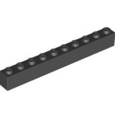LEGO 1 x 10 Brick Black