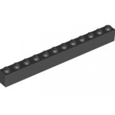 LEGO 1 x 12 Brick Black