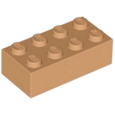 LEGO 2 x 4 Brick Medium Dark Flesh