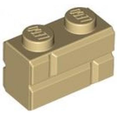LEGO 1 x 2 Brick Masonry Profile Tan