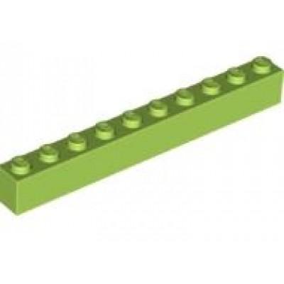 LEGO 1 x 10 Brick Lime