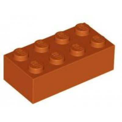 LEGO 2 x 4 Brick Dark Orange