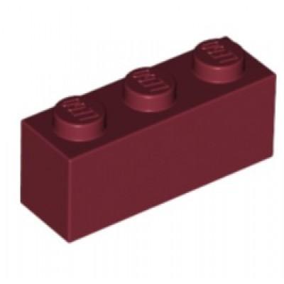 LEGO 1 X 3 Brick Dark Red