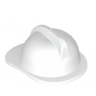 LEGO Minifigure Fire Helmet - White