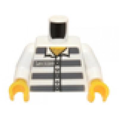 LEGO Minifigure Torso - Town Prisoner #50380