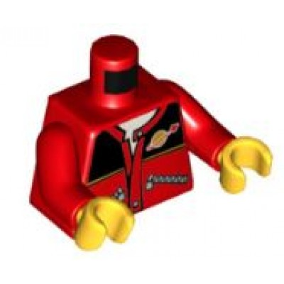 LEGO Minifigure Torso - Red Jacket Space Logo