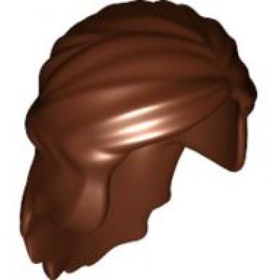 LEGO Minifigure Hair Female Princess - Reddish Brown
