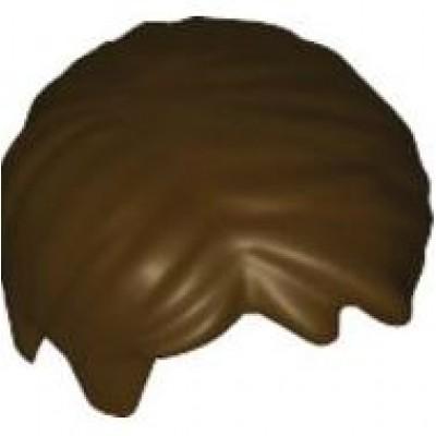 LEGO Minifigure Hair Side Part - Dark Brown