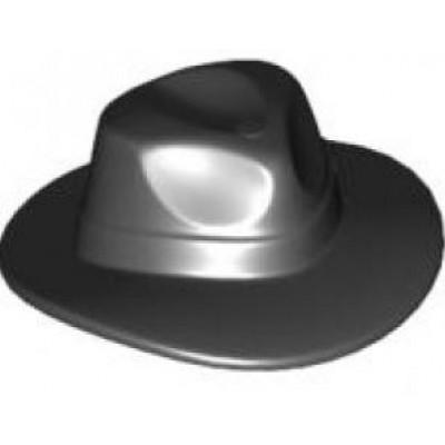 LEGO Minifigure Hat - Fedora Black Widebrim