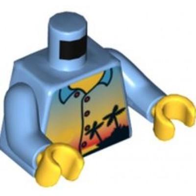LEGO Minifigure Torso - City Shirt with Sunset Pattern