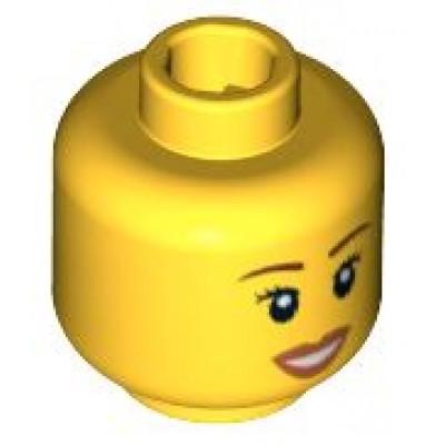 LEGO Minifigure Head - Open Smile Brown Eyebrows