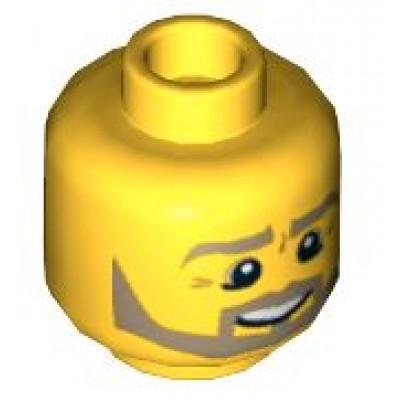 LEGO Minifigure Head - Beard Dark Tan