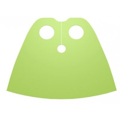 LEGO Minifigure Cape short - Lime