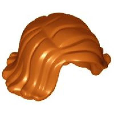 LEGO Minifigure Hair - Female Short Swept Sideways - Dark Orange