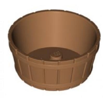 LEGO Barrel Half Large  with Axle Hole - Medium Dark Flesh