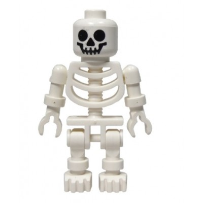 LEGO Minifigure Skeleton with Standard Skull - White