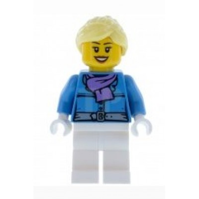 LEGO Minifigure -  Female - White Legs and Parka