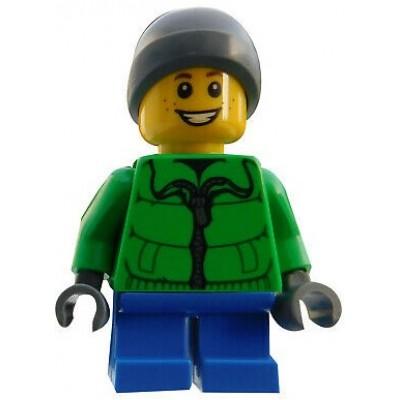 LEGO Minifigure - Male - Blue Legs and Parka