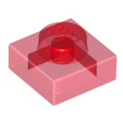 LEGO 1 x 1 Plate Transparent Red