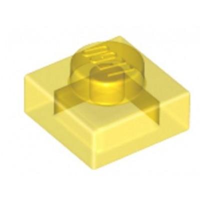 LEGO 1 x 1 Plate Transparent Yellow