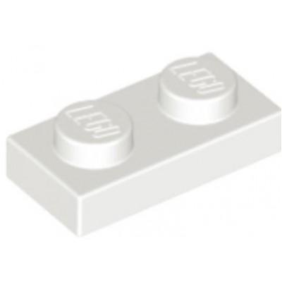 LEGO 1 x 2 Plate White