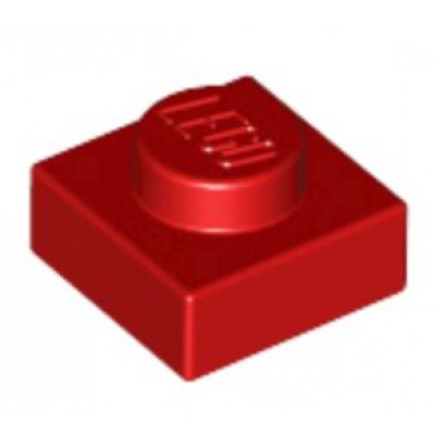 LEGO 1 x 1 Plate Red