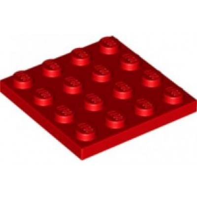 LEGO 4 x 4 Plate Red